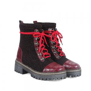 New European Winter Boots Lace Martin Boots -