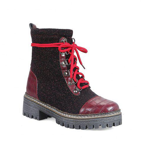 Shop New European Winter Boots Lace Martin Boots