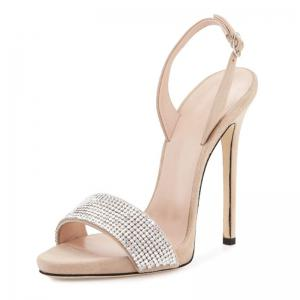 Women Shoes Buckle Strap Dress Stiletto Heel Sparkling Glitter Sandals -