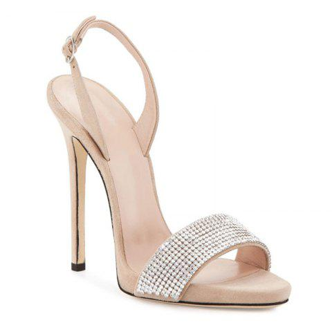 Shops Women Shoes Buckle Strap Dress Stiletto Heel Sparkling Glitter Sandals