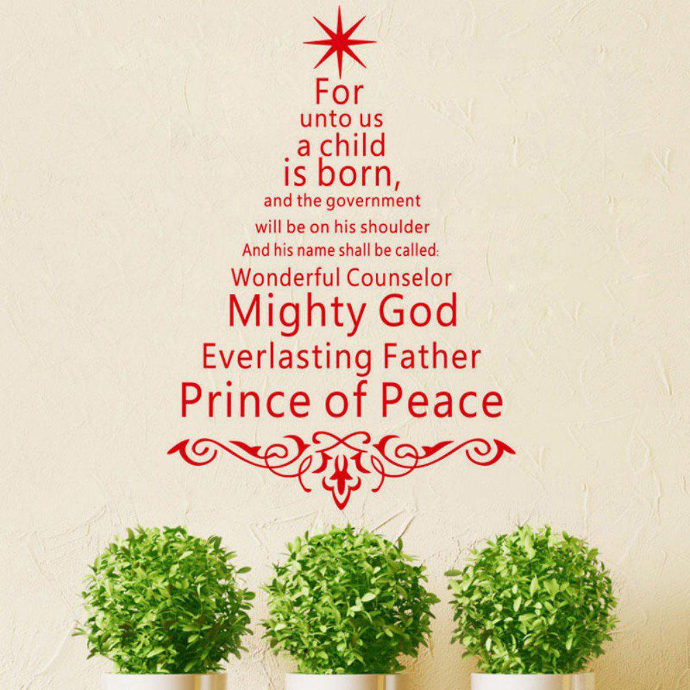 2019 dsu jk811 english quotes prince of peace christmas tree art