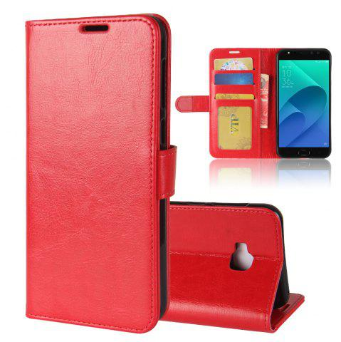 Store Durable Crazy Horse Pattern Back Buckle Flip PU Leather Wallet Case for ASUS Zenfone 4 Selfie Pro 5.5 inch (ZD552KL)