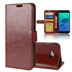 Durable Crazy Horse Pattern Back Buckle Flip PU Leather Wallet Case for ASUS Zenfone 4 Selfie Pro 5.5 inch (ZD552KL) -