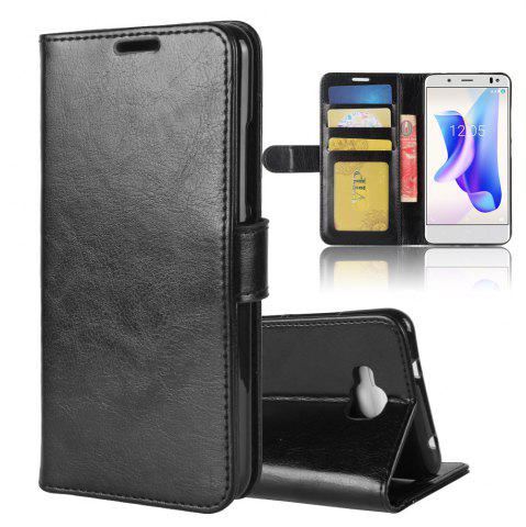 Unique Durable Crazy Horse Pattern Back Buckle Flip PU Leather Wallet Case for BQ Aquaris U2 Lite