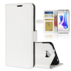 Durable Crazy Horse Pattern Back Buckle Flip PU Leather Wallet Case for BQ Aquaris U2 Lite -