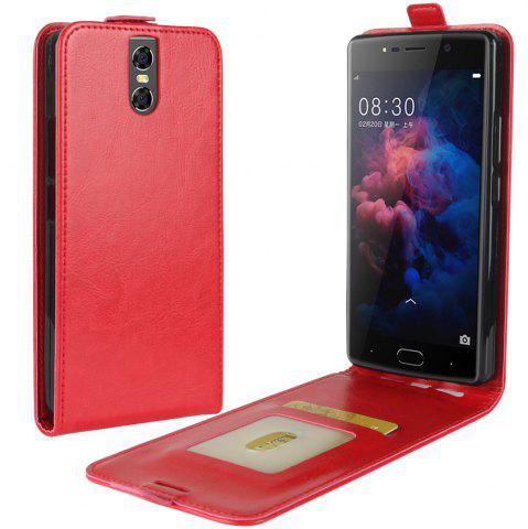 Outfits Durable Crazy Horse Pattern Up and Down Style Flip Buckle PU Leather Case for Doogee BL7000