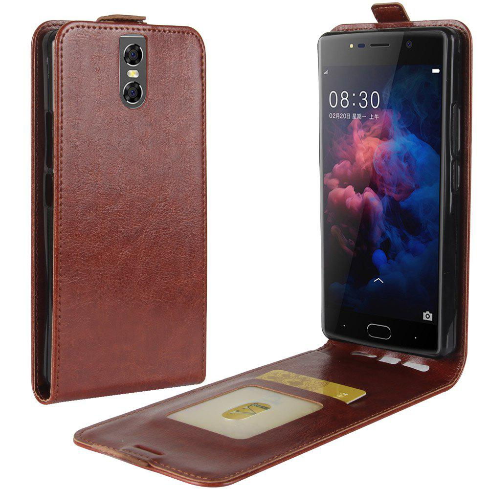 Affordable Durable Crazy Horse Pattern Up and Down Style Flip Buckle PU Leather Case for Doogee BL7000