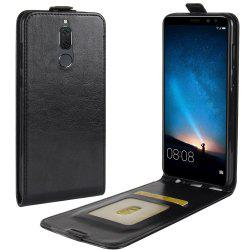 Durable Crazy Horse Pattern Up and Down Style Flip Buckle PU Leather Case for Huawei G10 -