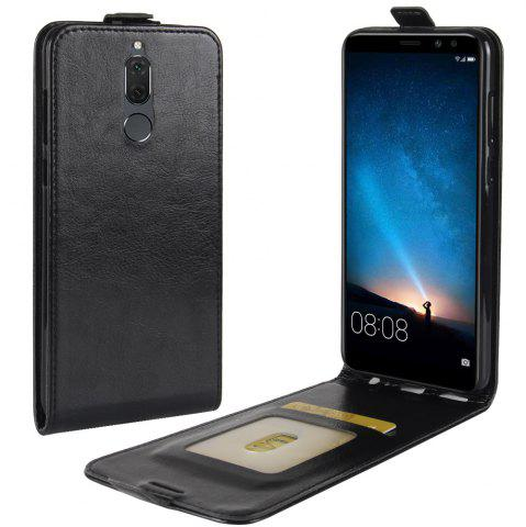 Affordable Durable Crazy Horse Pattern Up and Down Style Flip Buckle PU Leather Case for Huawei Mate 10 Lite