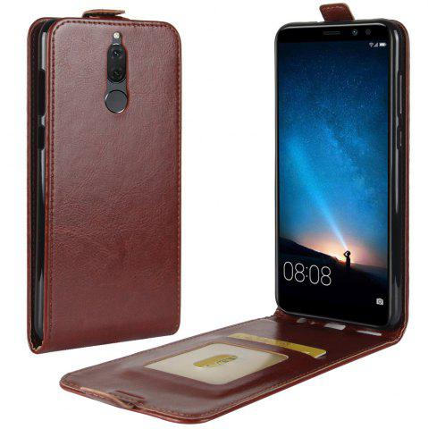 Sale Durable Crazy Horse Pattern Up and Down Style Flip Buckle PU Leather Case for Huawei Mate 10 Lite