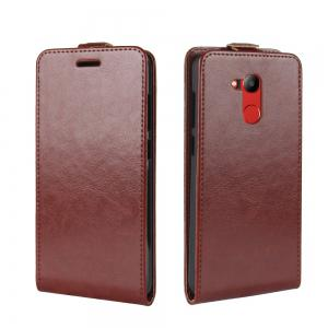 Durable Crazy Horse Pattern Up and Down Style Flip Buckle PU Leather Case for Huawei Honor V9 Play -
