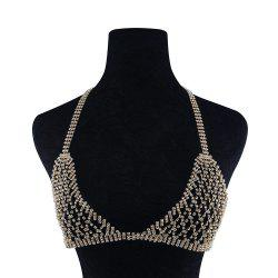 Flash Drill Bikini Chest Chain Tide Show Clothing -