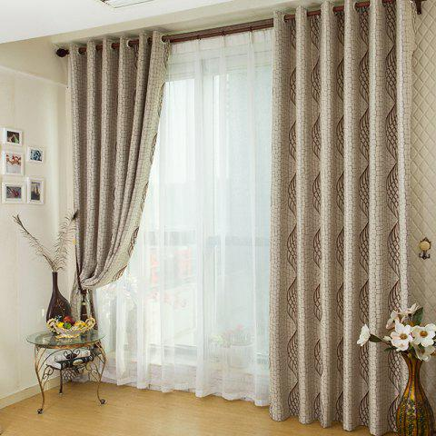 Discount European Simple Style Jacquard Living Room Bedroom Dining Room Curtain Set