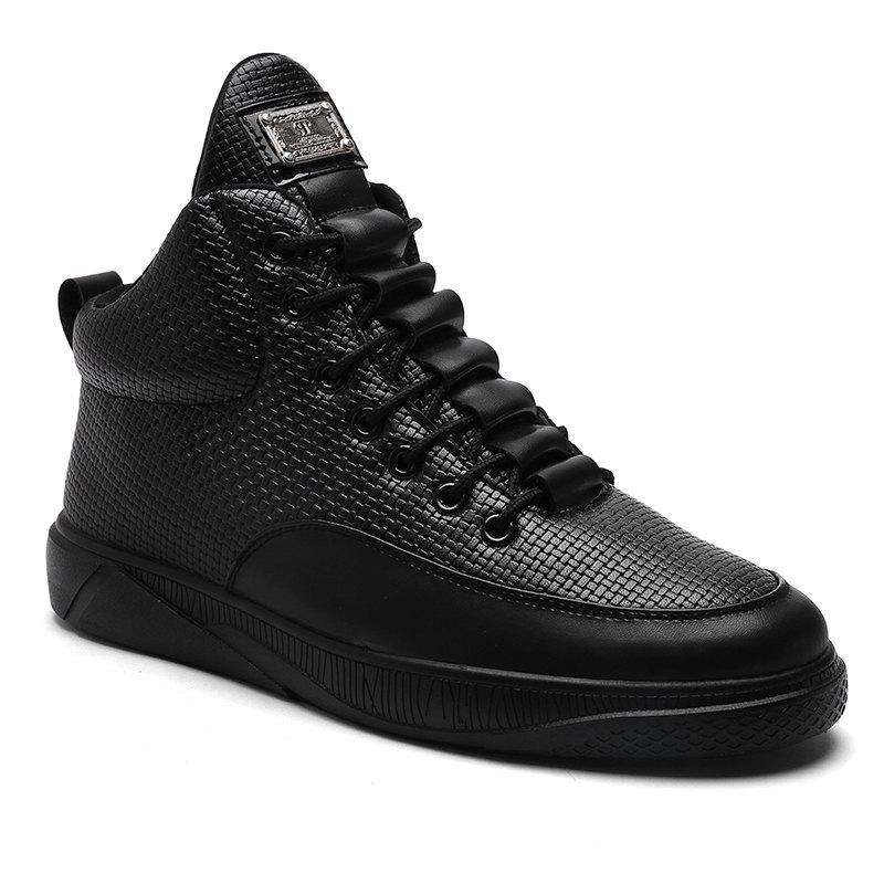 Mens High Top Causal Hiking Outdoor Sports ShoesSHOES &amp; BAGS<br><br>Size: 42; Color: BLACK;