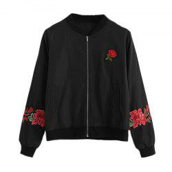Women's Casual Fashion Embroidery Rose Jacket -