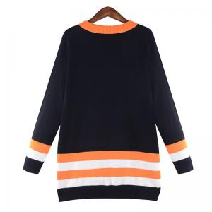 Street Style Letters Long Sleeved Pullover Sweater Dress -
