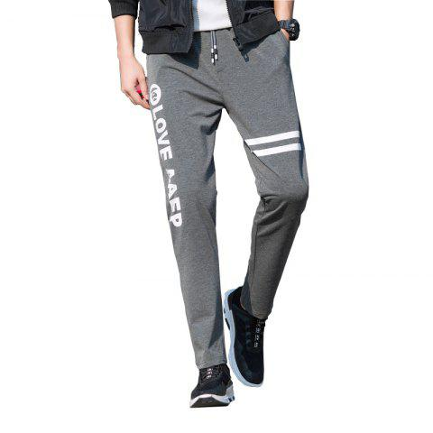Buy Men's Leisure Sports Straight Tube Trim Pants