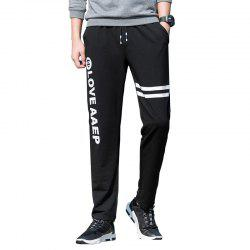 Men's Leisure Sports Straight Tube Trim Pants -