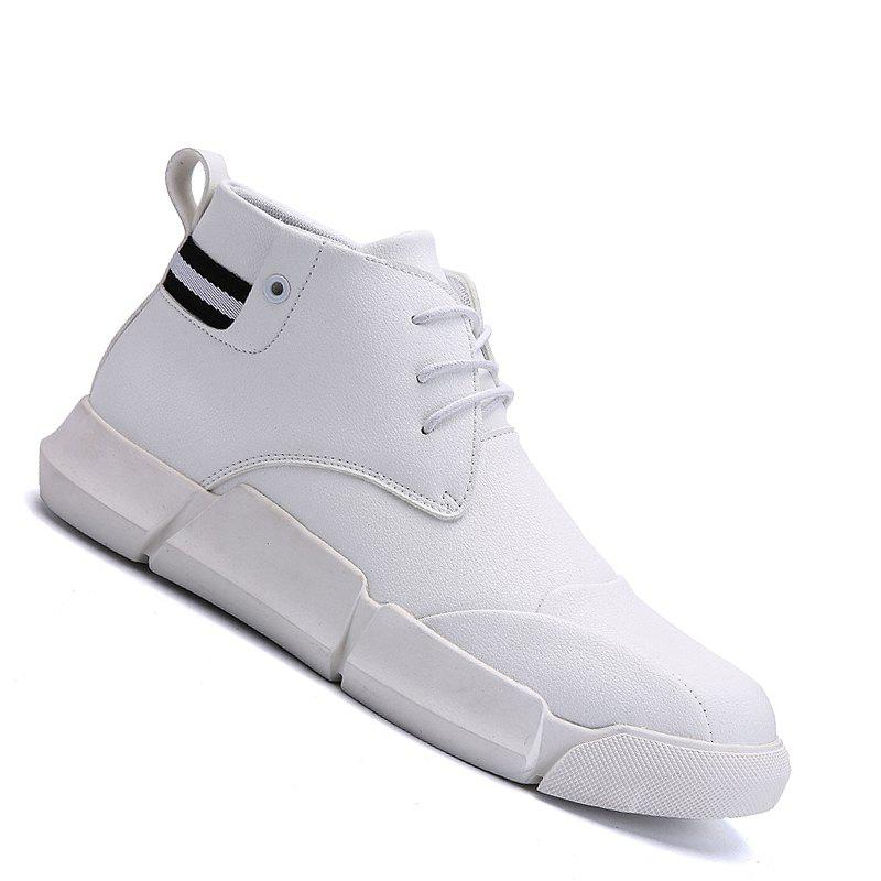 Hot Men Casual Fashion Outdoor Leather Rubber Lace Up Solid Shoes