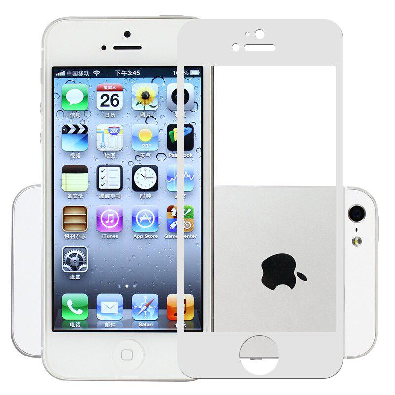 2.5D Full Screen Tempered Glass Protector for iPhone 5 / 5S / SEHOME<br><br>Color: WHITE;