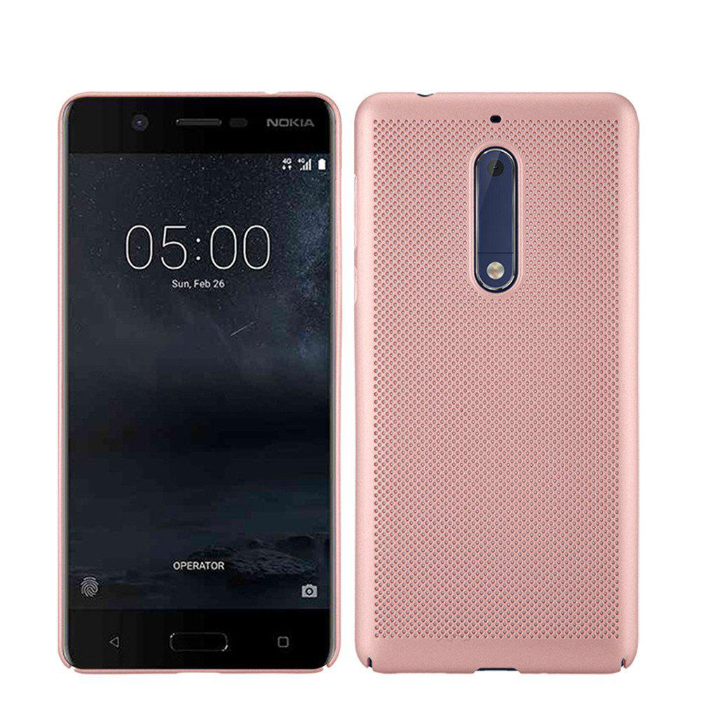 New Heat Dissipation Ultra-thin Frosted Back Cover Solid Color Hard PC Case for Nokia 5