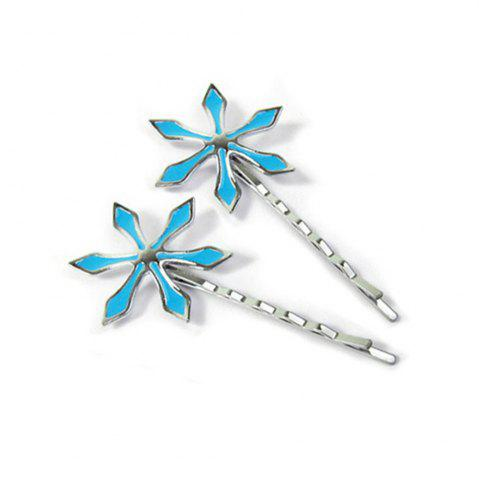 Online Hair Band Accessories Cosplay Blue Flower Clip Barrette Decoration