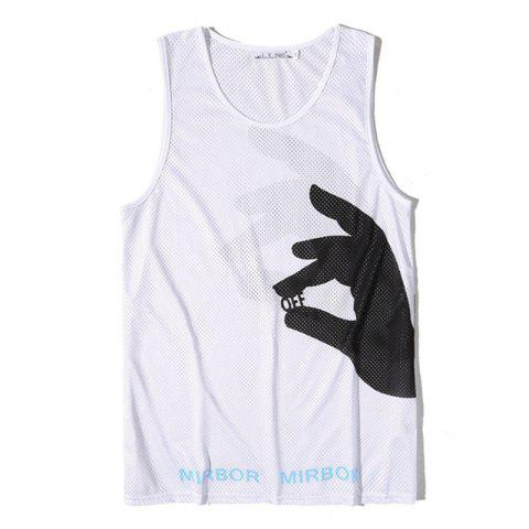 Latest Men Print Quick-drying Tank Top