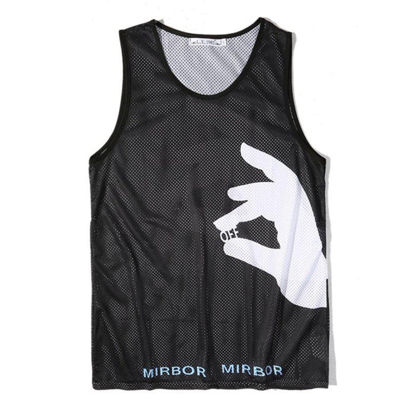 Outfit Men Print Quick-drying Tank Top