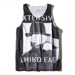 Men's Head Prints Sport Quick-drying Tank Top -