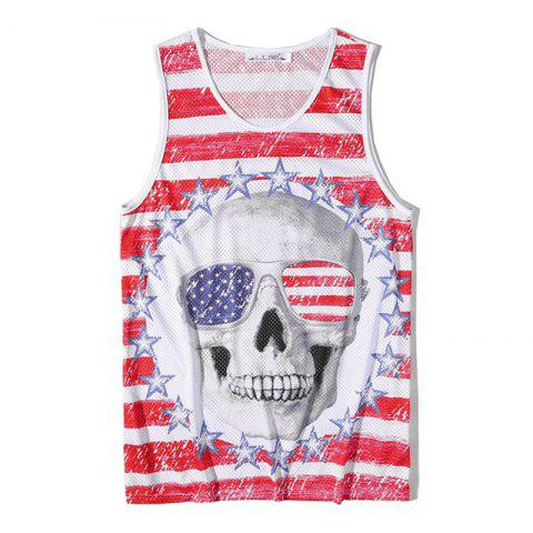 Sale Men's Fashion Skull Printed Tank Top