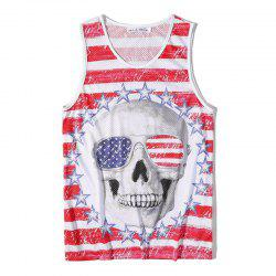 Men's Fashion Skull Printed Tank Top -