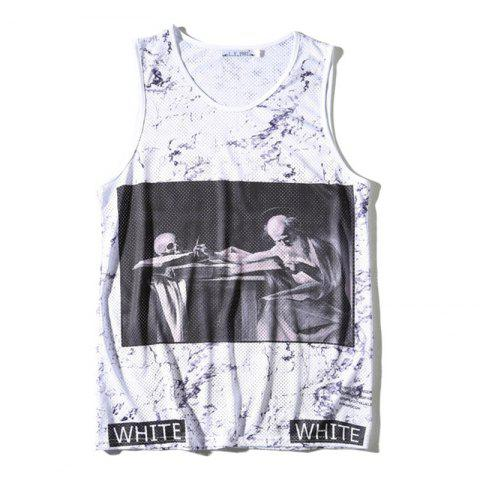 Shops Men's 3D Digital Printed Single-layer Tank Top