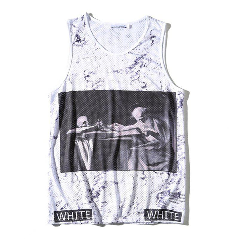 Affordable Men's 3D Digital Printed Single-layer Tank Top
