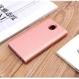 PU Leather Smart Clear View Flip Cover with Kickstand for Samsung Galaxy J530 -