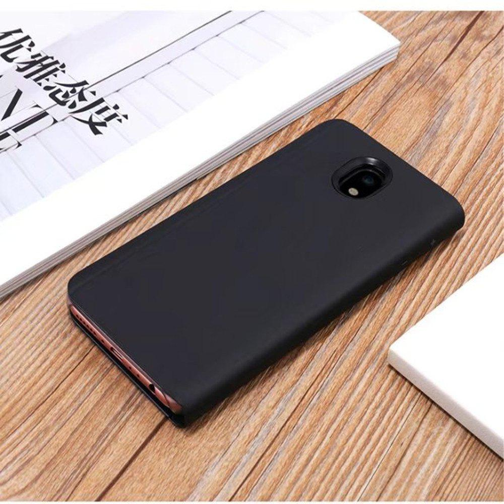 Shops PU Leather Smart Clear View Flip Cover with Kickstand for Samsung Galaxy J530