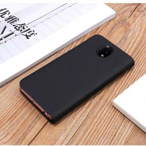 PU Leather Smart Clear View Flip Cover with Kickstand for Samsung Galaxy J730 -