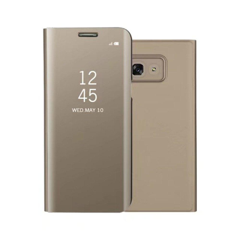 Cheap PU Leather Smart Clear View Flip Cover with Kickstand for Samsung Galaxy A3 2017