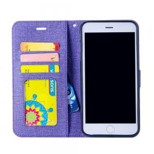 Cotton Pattern Leather Case for iPhone 6 Plus -