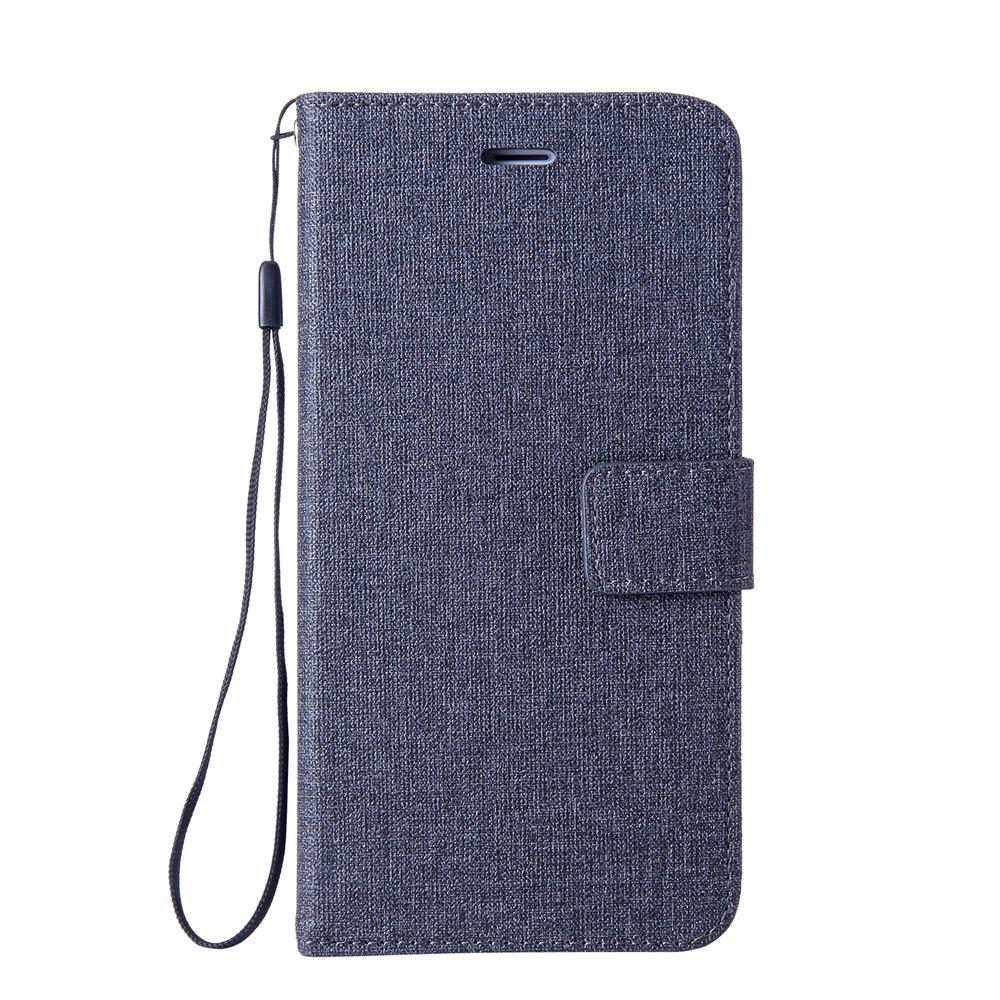 Store Cotton Pattern Leather Case for iPhone 6 Plus