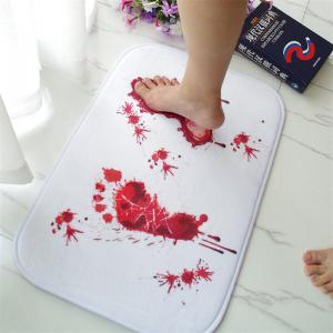 Creative Foot Blood Stains Pattern Antiskid Floor Mat -