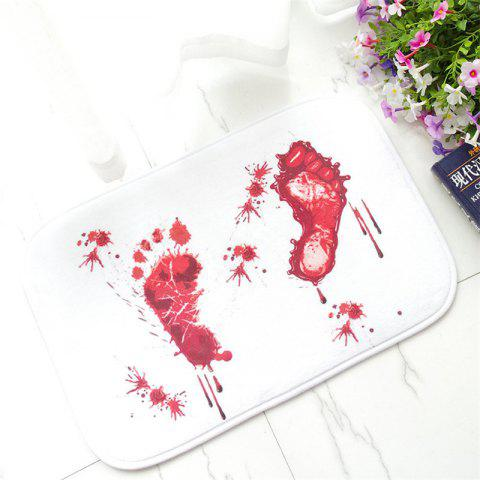 Shop Creative Foot Blood Stains Pattern Antiskid Floor Mat