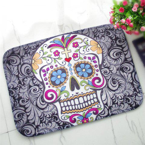 Best Creative Skull Pattern Antiskid Floor Mat