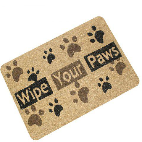 Best Creative Wipe Your Paws Pattern Antiskid Floor Mat