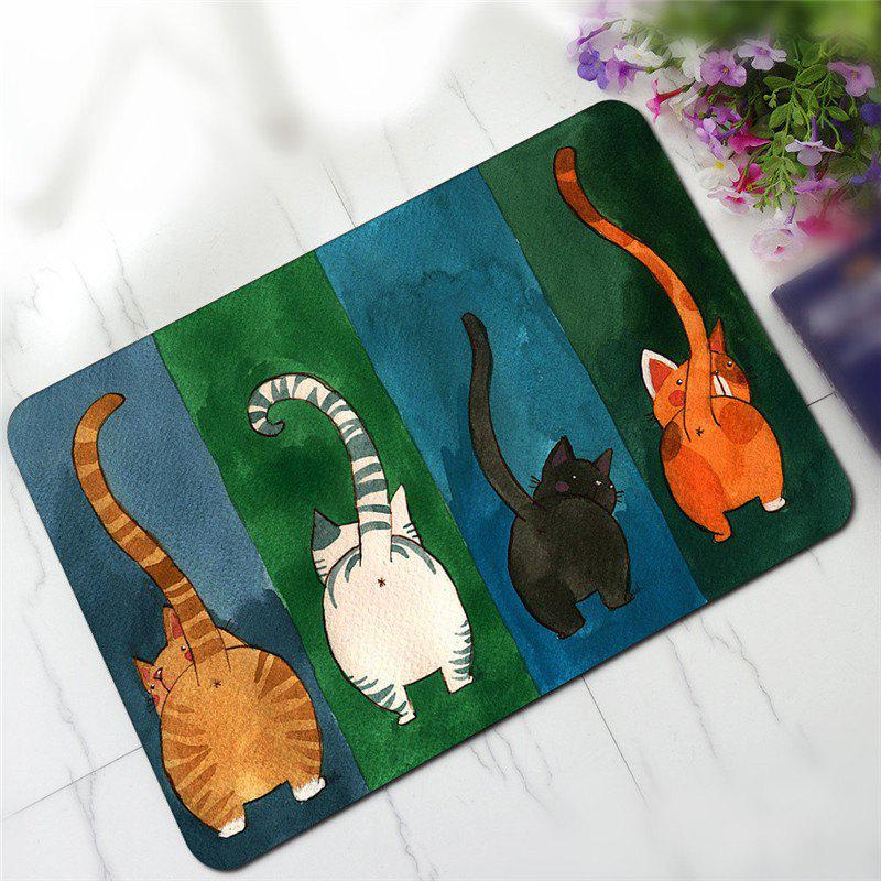 Cute Cartoon Cat Pattern Antiskid Floor MatHOME<br><br>Color: COLORMIX;