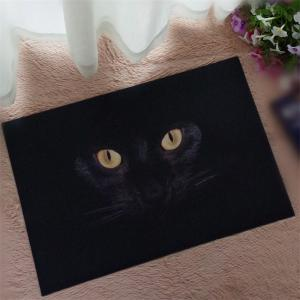 Creative 3D Black Cat Eyes Pattern Antiskid Floor Mat -