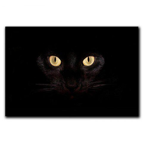 Buy Creative 3D Black Cat Eyes Pattern Antiskid Floor Mat
