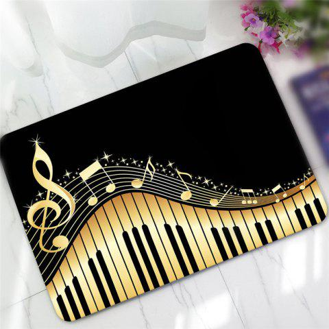 Trendy Creative Piano Pattern Antiskid Floor Mat