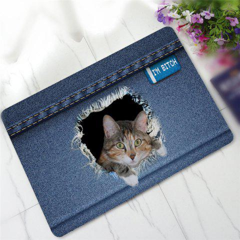 Unique Creative 3D Cat Pattern Antiskid Floor Mat