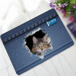 Creative 3D Cat Pattern Antiskid Floor Mat -