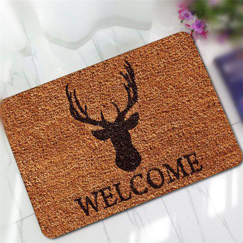 Discount Creative Deer Pattern Antiskid Floor Mat